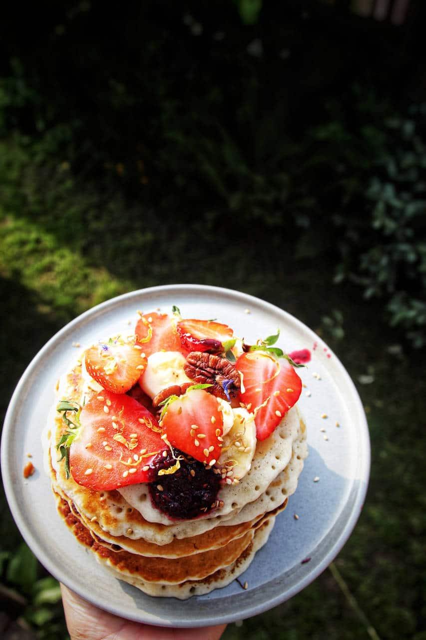 Pancakes Végan  - Recette de Baroudeuse Culinaire